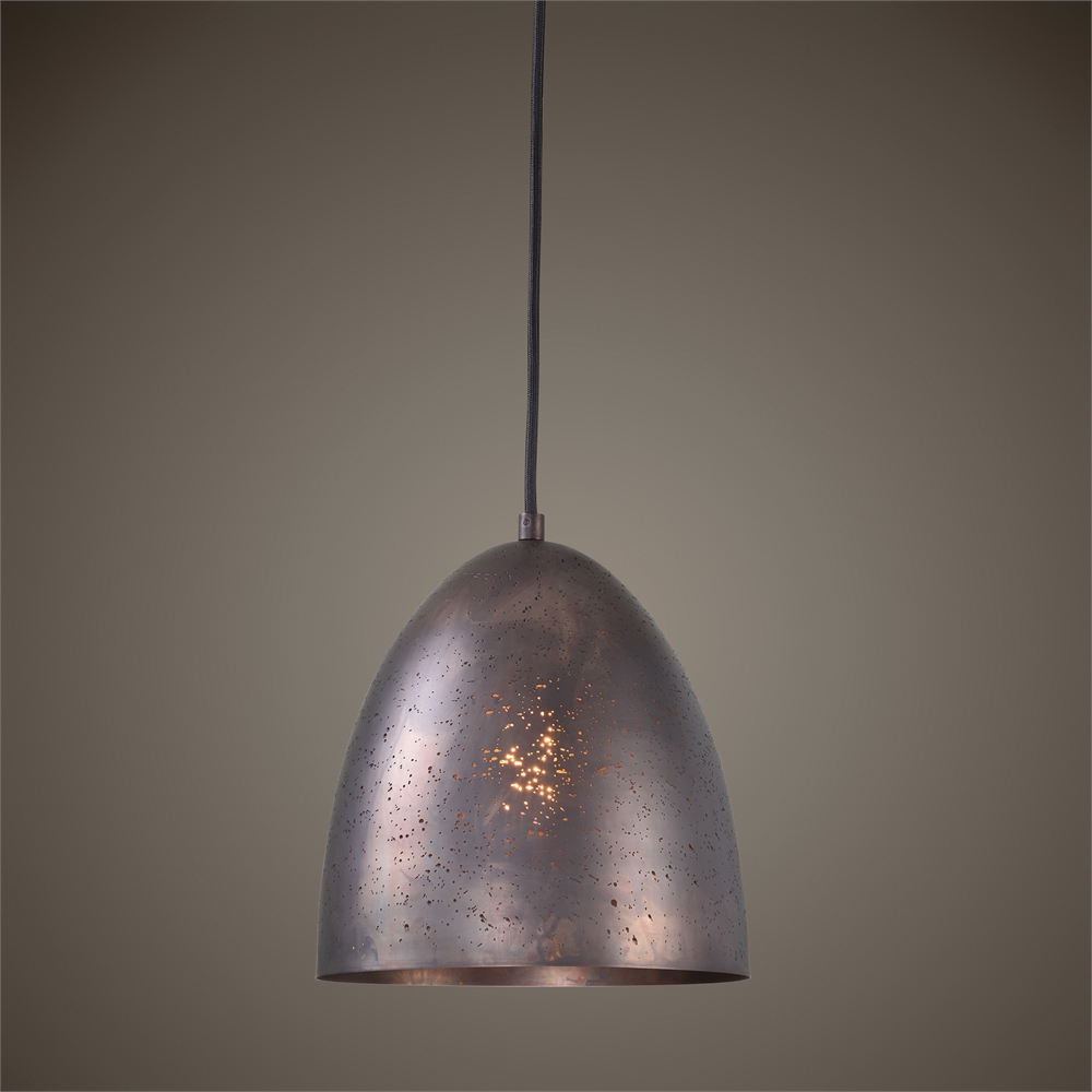 Pendant light bronze metal finish reflections of you by amy for Metal hanging lights