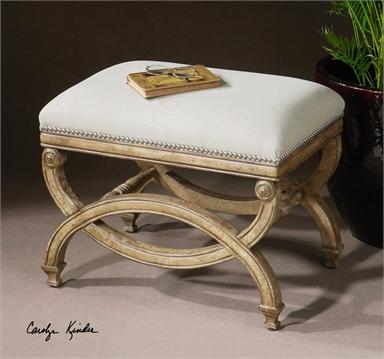 White Mahogeny Framed Bench