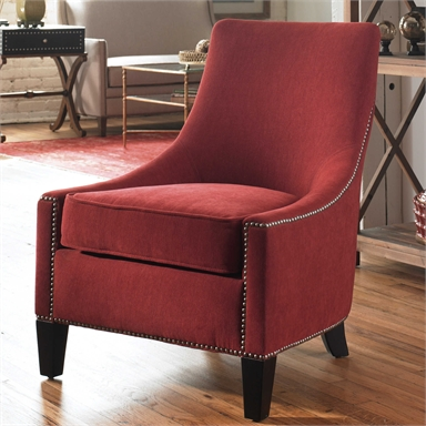 Berry Red Armless Accent Chair