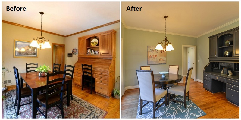 Before and After Dinning Room Louisville KY