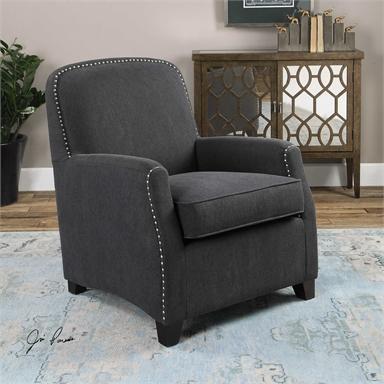 Stonewashed Gray English Club Chair