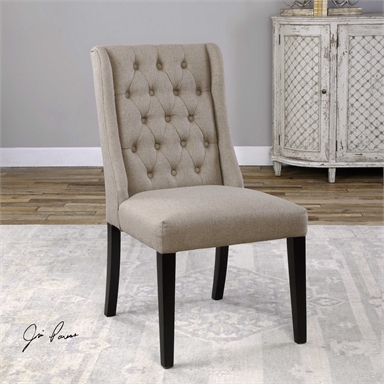 Flax Seed Brown Accent Chair