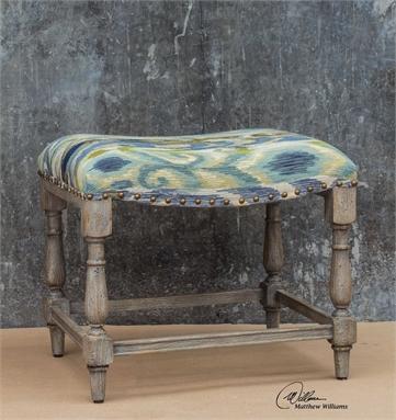 Remarkable Brushed Ikat Patterned Bench Inzonedesignstudio Interior Chair Design Inzonedesignstudiocom